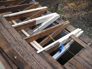 roof rafters repaired second view