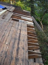 roof before new planks