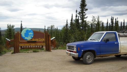 Truck at Arctic Circle