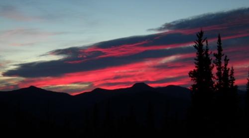 Arctic sunset