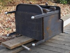 moving the woodstove with rollers