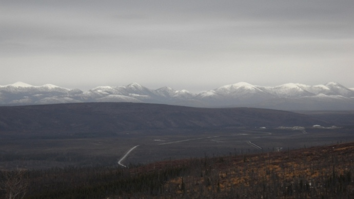the Brooks Range, Alaska, covered in snow as I go