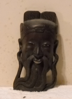 art piece wooden mask