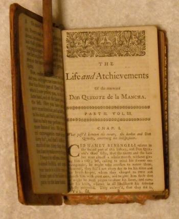 antique book, Don Quixote by Cervantes