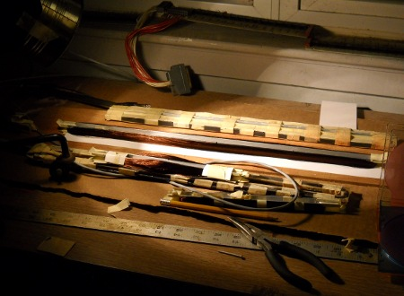 pickup coils on workbench
