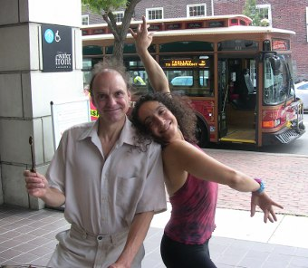 Brian and Cleo, a dancer from NYC