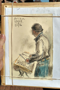 sketch of me playing by Gregory Robison