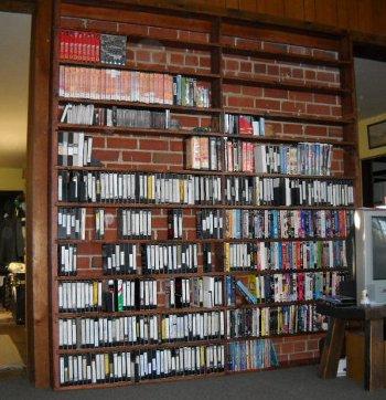 video bookcase