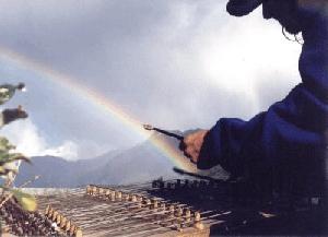 dulcimer and rainbow