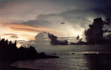 Florida sunset thunderstorm